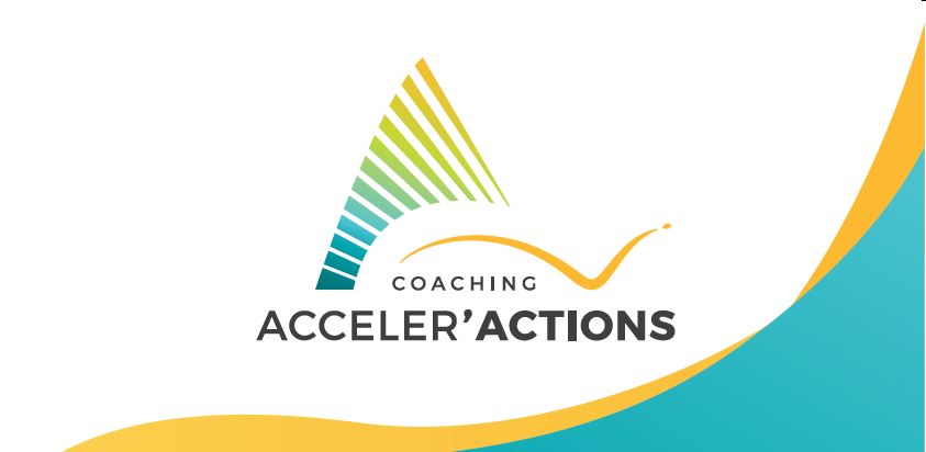 logo et vague roll up AccelerActions Coaching