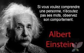 Citation d'Albert Einstein sur le comportement