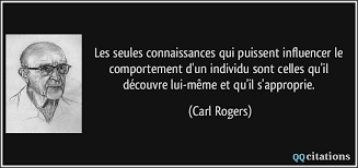 Citation de Carl ROGERS sur le comportement